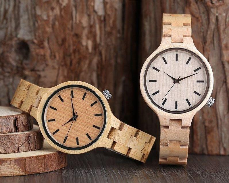 840cf1f58681 Aunque en este caso ya no debes elegir entre unos materiales u otros para  el conjunto de tu reloj porque tienes claro que quieres un reloj de madera  para ...