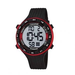 Reloj Calypso de hombre rojo y negro