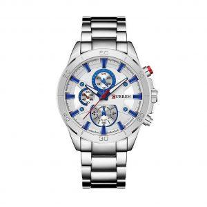 Reloj clásico hombre con detalles azules