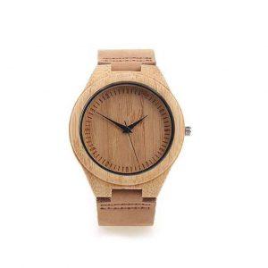 Reloj de madera de bambú de hombres