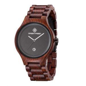 Reloj de madera de caballero con calendario