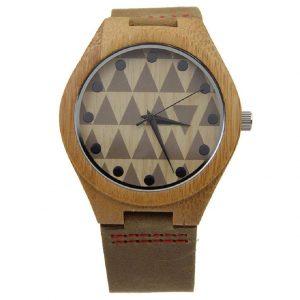 Reloj de madera de caballero estampado