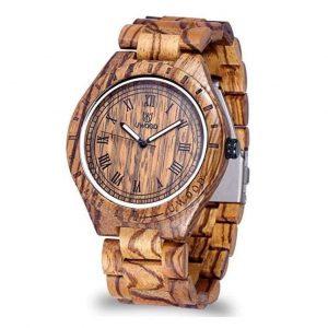 Reloj de madera de hombre de sándalo