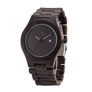 Reloj de madera en negro de hombres