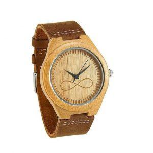 Reloj de madera para hombres infinito