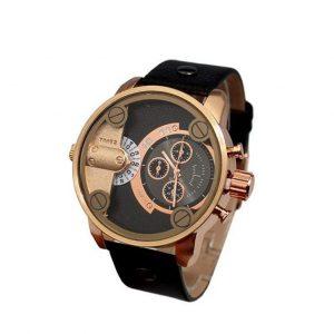 Reloj de pulsera grande de hombres con regalo