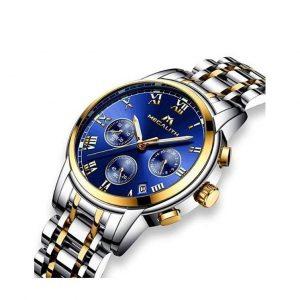 Reloj elegante para hombres de acero inoxidable