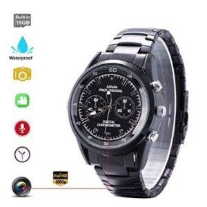 Reloj espía impermeable con visión nocturna infrarrojos
