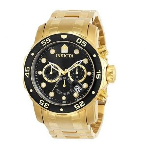 Reloj grande para hombre dorado Invicta