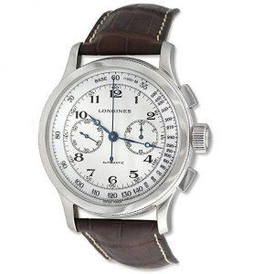 Reloj Longines hombre marrón