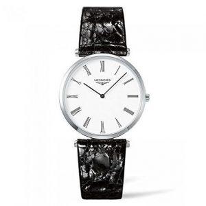 Reloj Longines mujer cuero negro