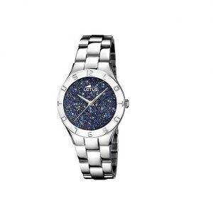 Reloj Lotus de mujer brillantes azules