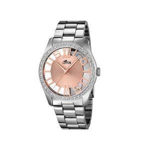 Reloj Lotus de mujer de cristal mineral