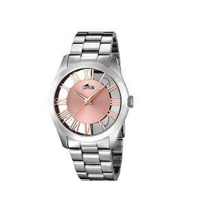 Reloj Lotus de mujer plata y rosa
