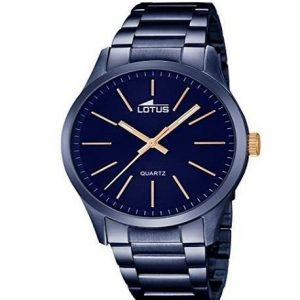 Reloj Lotus para hombre con correa de acero inoxidable