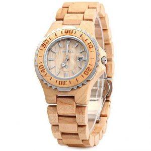 Reloj madera mujer fecha