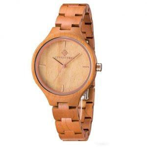 Reloj madera mujer hecho a mano