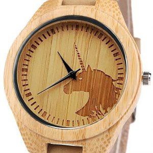 Reloj madera mujer unicornio