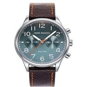 Reloj Mark Maddox para hombre con correa de cuero
