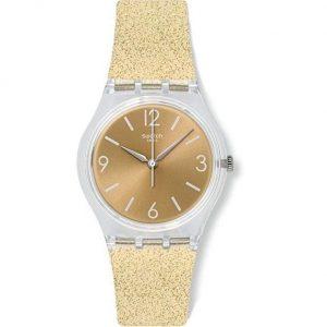 Reloj Swatch mujer digital dorado