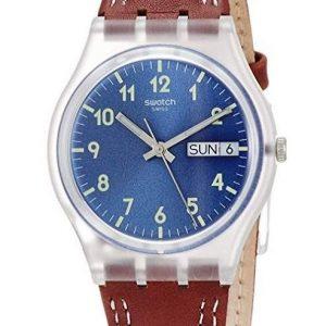 Reloj Swatch para hombre analógico de cuero